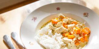 kycklinggryta med dragon och curry