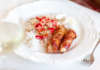 Bacon lindat runt kyckling i ugn med ris till